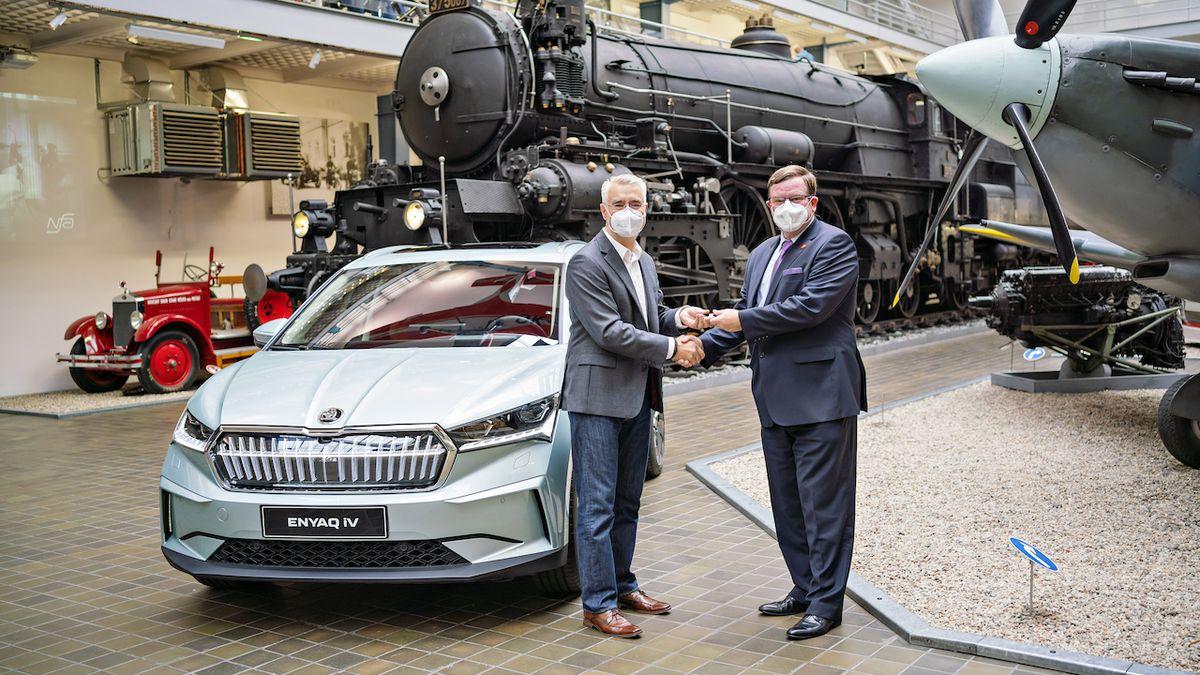 Součástí sbírek Národního technického muzea je nově Škoda Enyaq