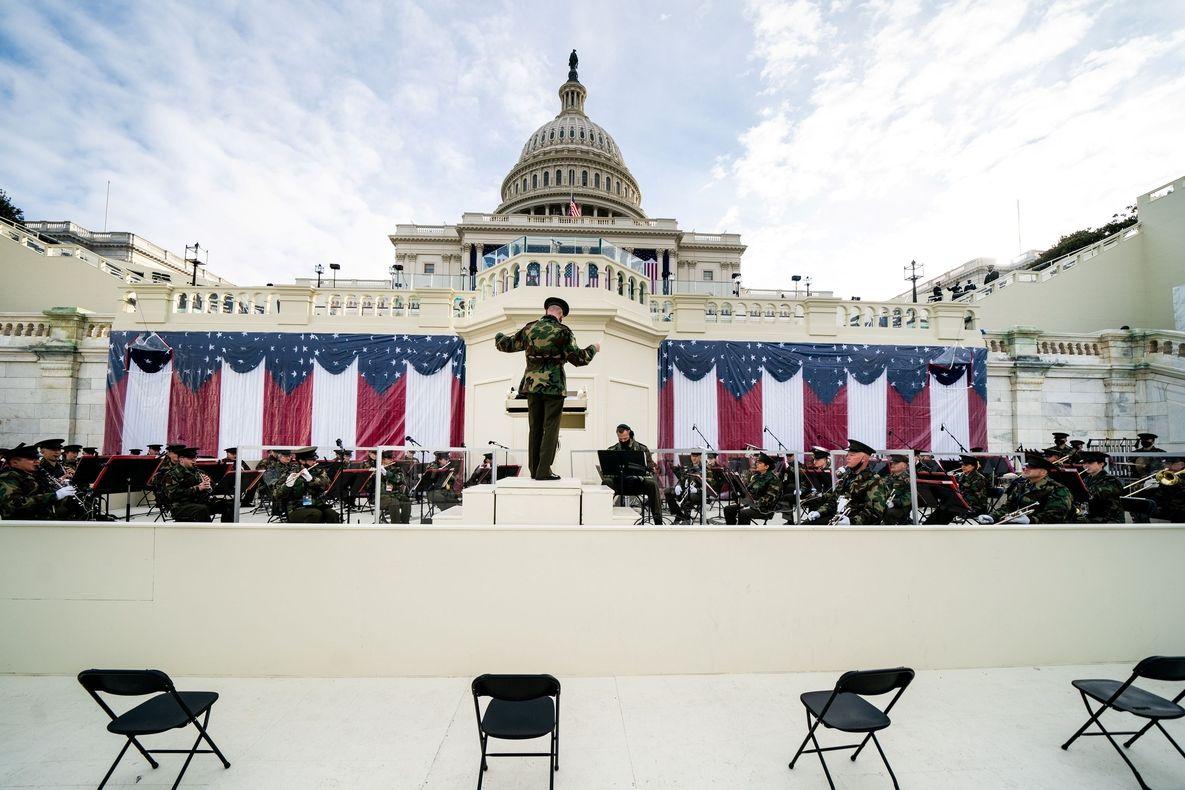 Nácvik inaugurace Joea Bidena