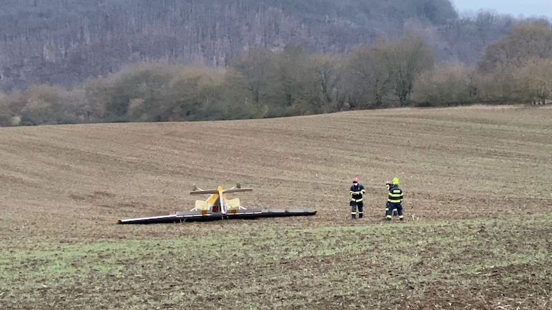 Na Berounsku havarovalo malé letadlo
