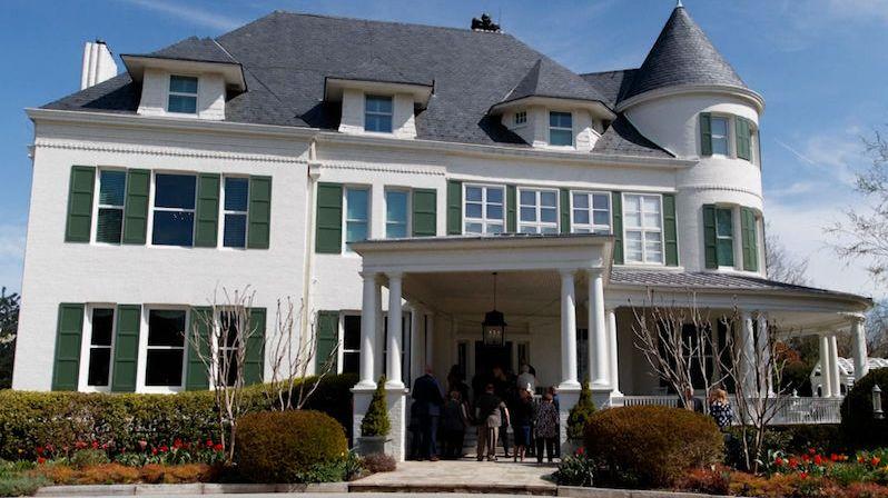 Elegantní vila s věžičkou. Prohlédněte si rezidenci amerických viceprezidentů