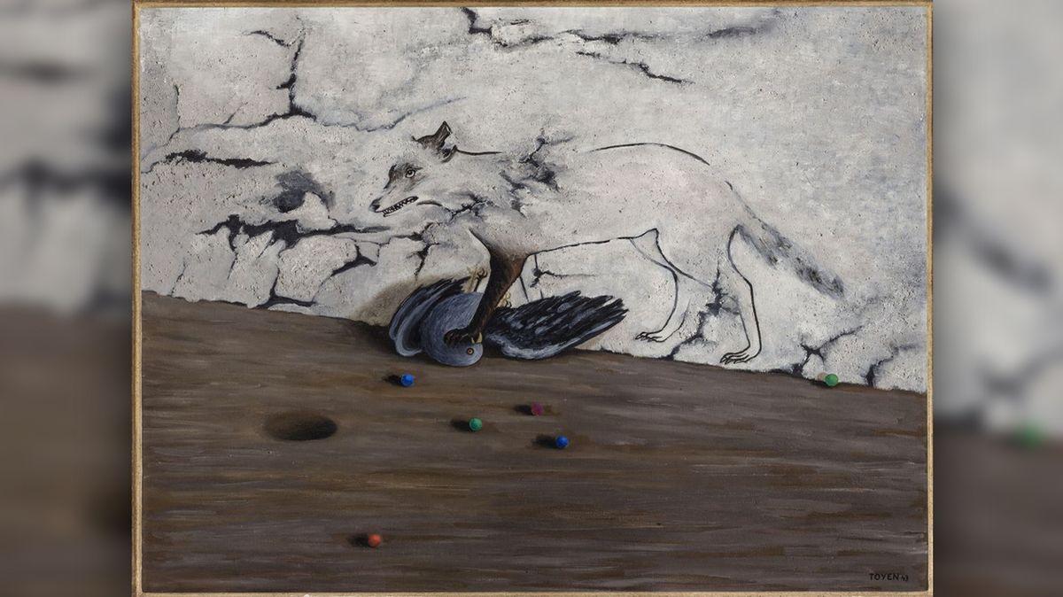 Díla Toyen jsou vystavena v Národní galerii