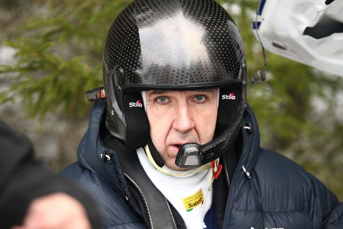 Michal Solowow na mistrovství světa rally v roce 2015 ve Švédsku.
