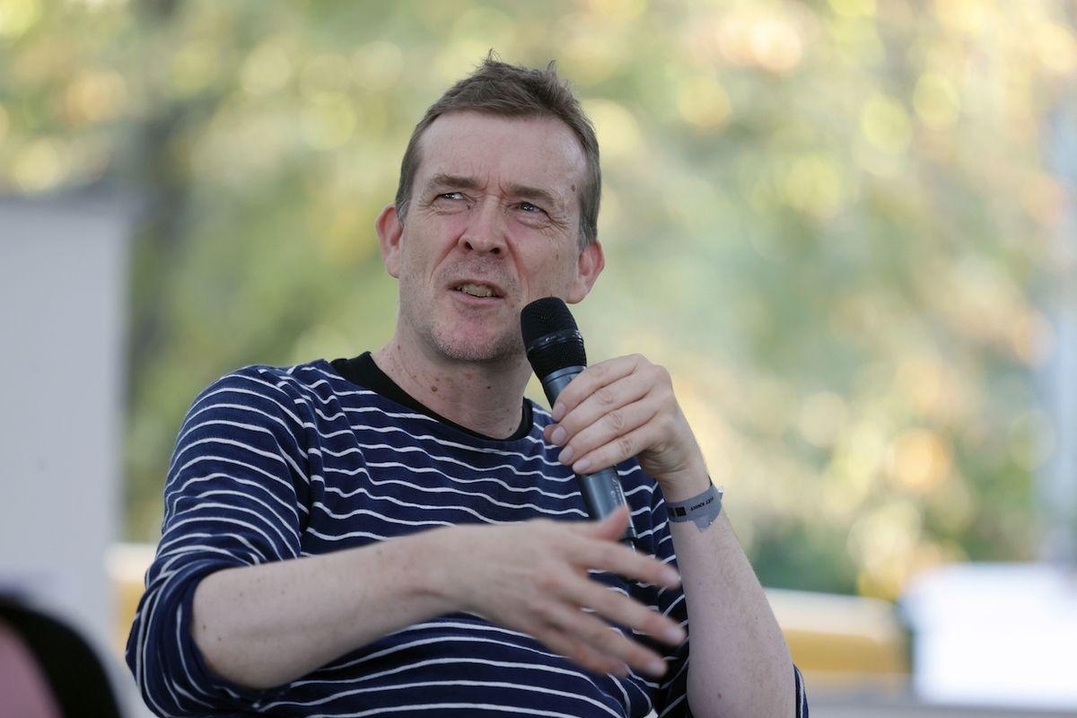 Britský spisovatel a scenárista David Mitchell ne Světu knihy.