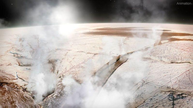 Hubbleův teleskop potvrdil, že se na Jupiterově měsíci odpařuje voda. Jen na jedné polokouli