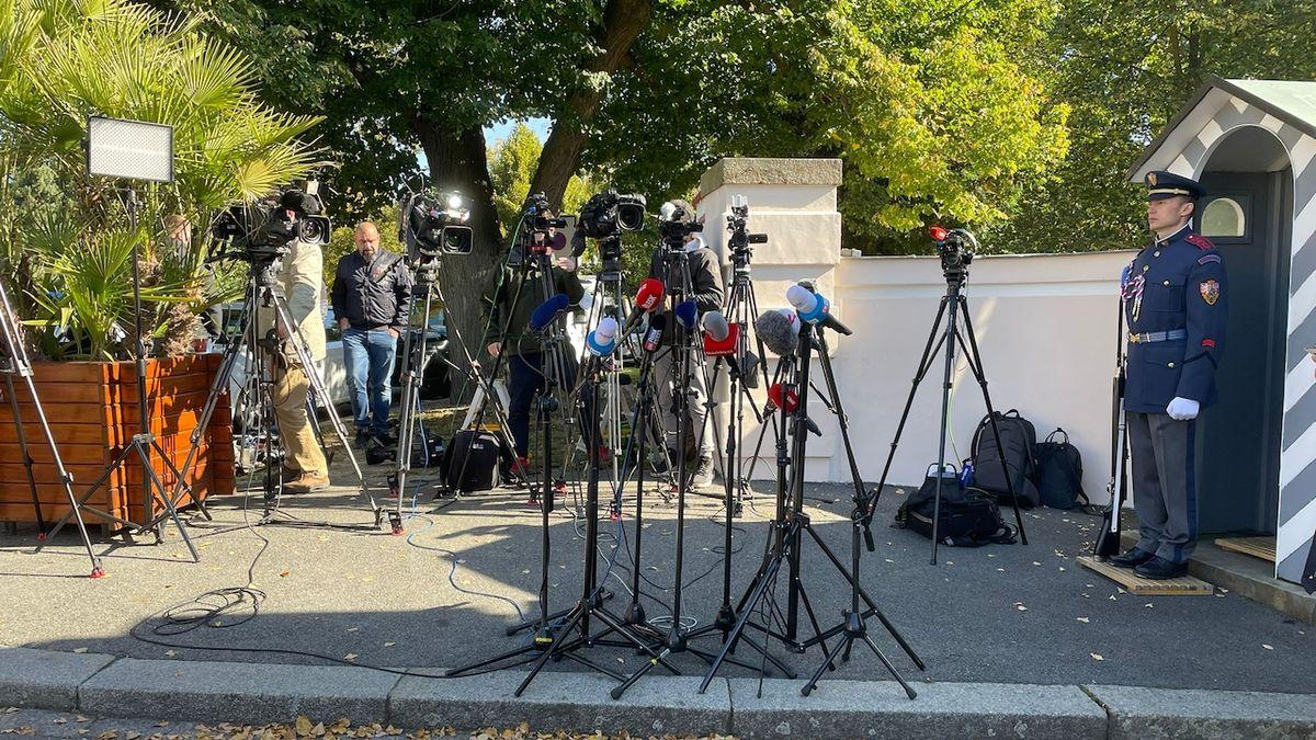 Novináři v Lánech