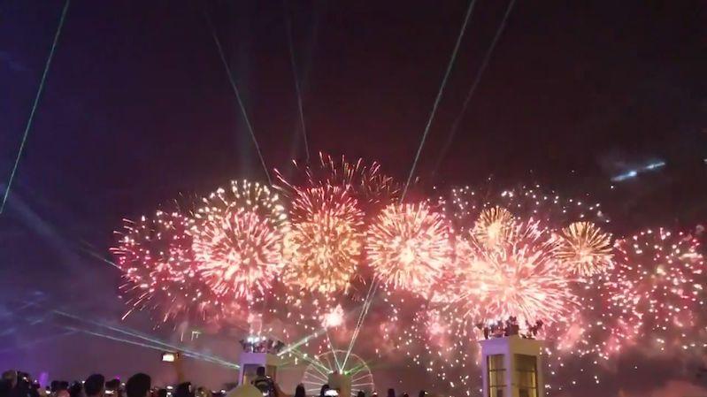 Ohňostroj v Abú Dhabí překonal hned dva světové rekordy