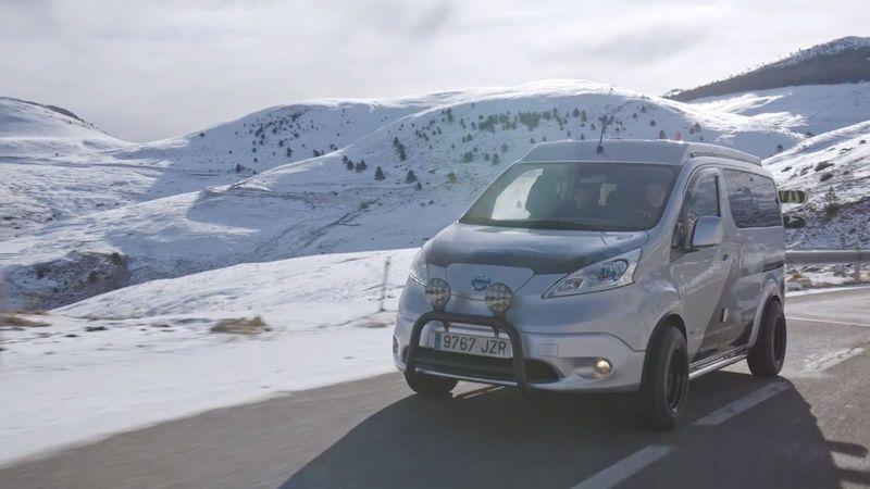 Nissan představil elektrickou obytnou dodávku určenou na zimní expedice