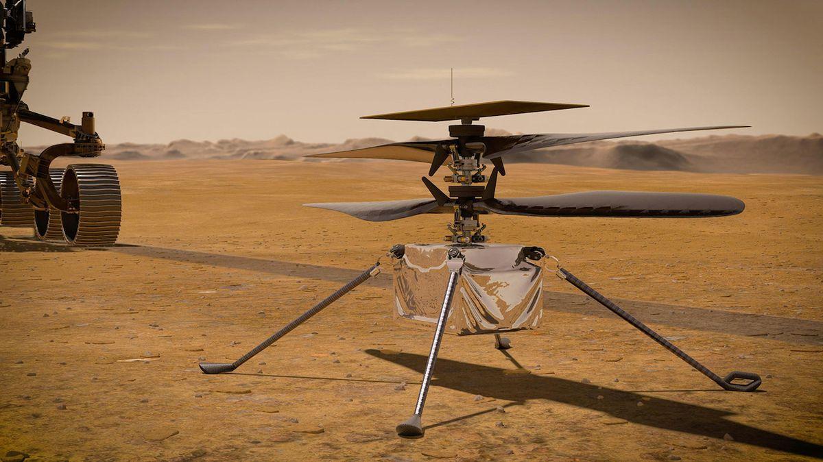 """""""Bratři Wrightové na rudé planetě"""". NASA plánuje let helikoptéry na Marsu na začátek dubna"""