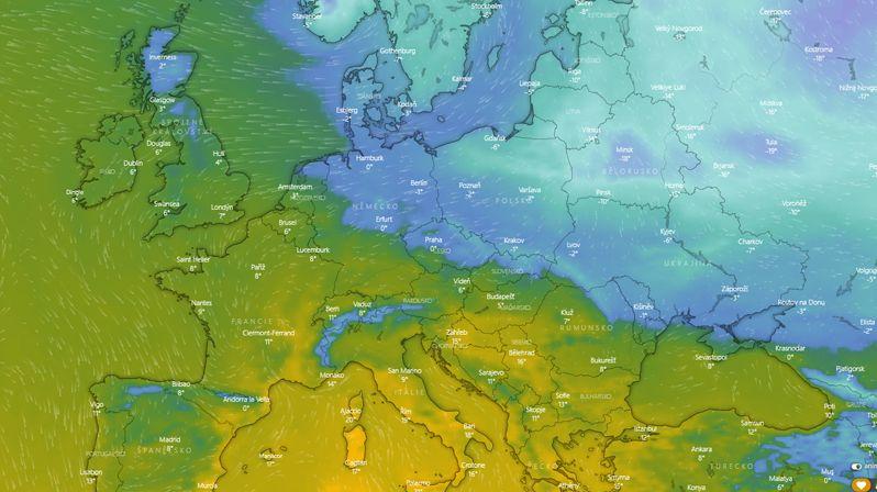 Sever pod stoletým sněhem, na jihu předjaří. Předěl evropských extrémů bude i v Česku
