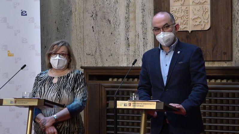 Tisková konference ministra Blatného k aktuálnímu vývoji epidemie