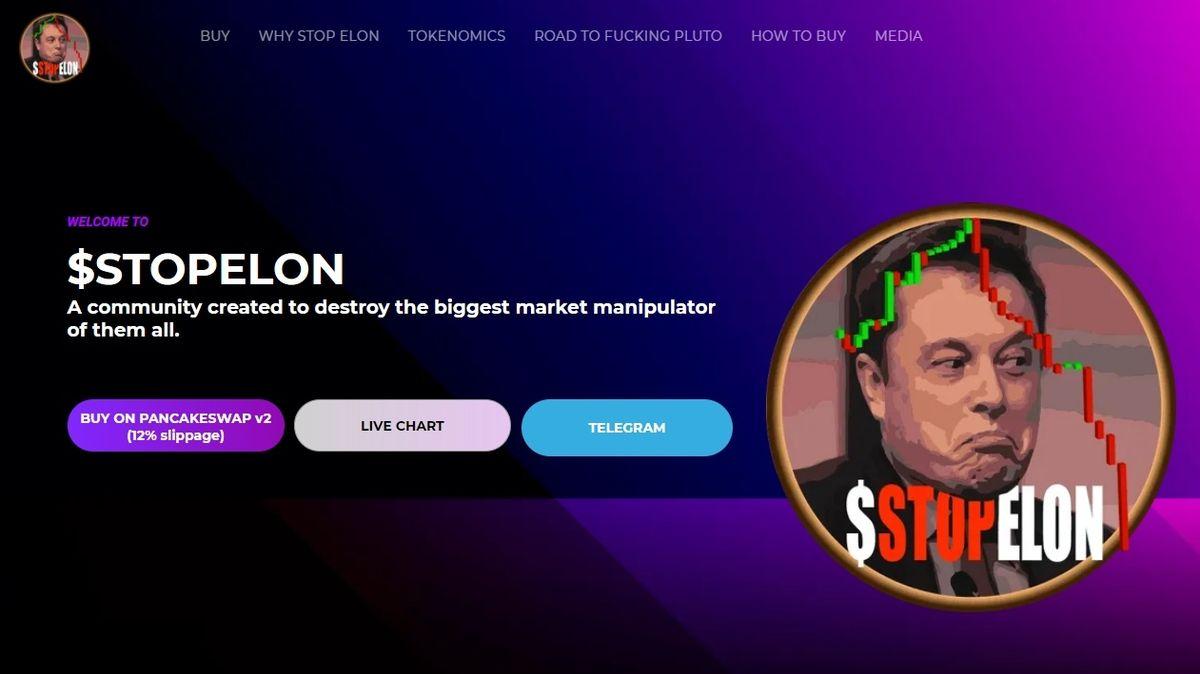 Vznikla nová kryptoměna StopElon, fanoušci se chtějí pomstít Muskovi