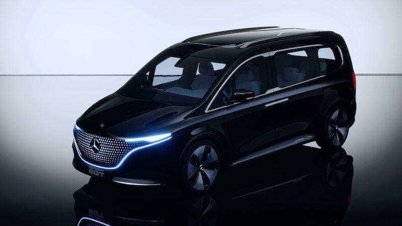 Mercedes představuje EQT, koncept kompaktní elektrické dodávky