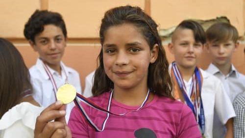 Annamária Horváthová se zlatou medailí