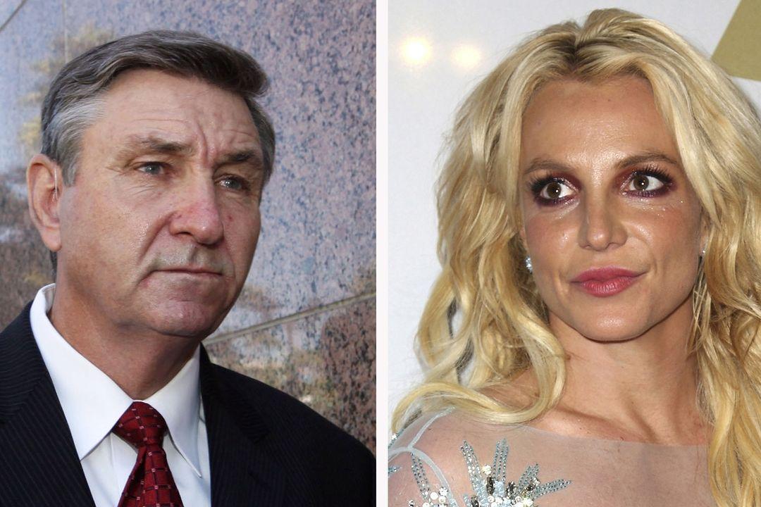 Jamie Spears (vlevo) na snímku z roku 2012 a jeho dcera, zpěvačka Britney Spearsová na fotografii z roku 2017