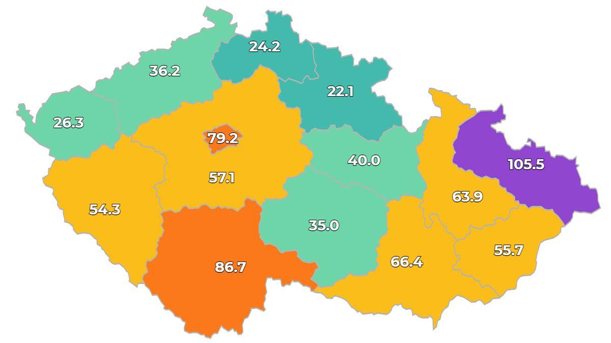 Nákaza roste nejvíc v Ostravě a Brně. Podle balíčků už by sever Moravy zavíral obchody