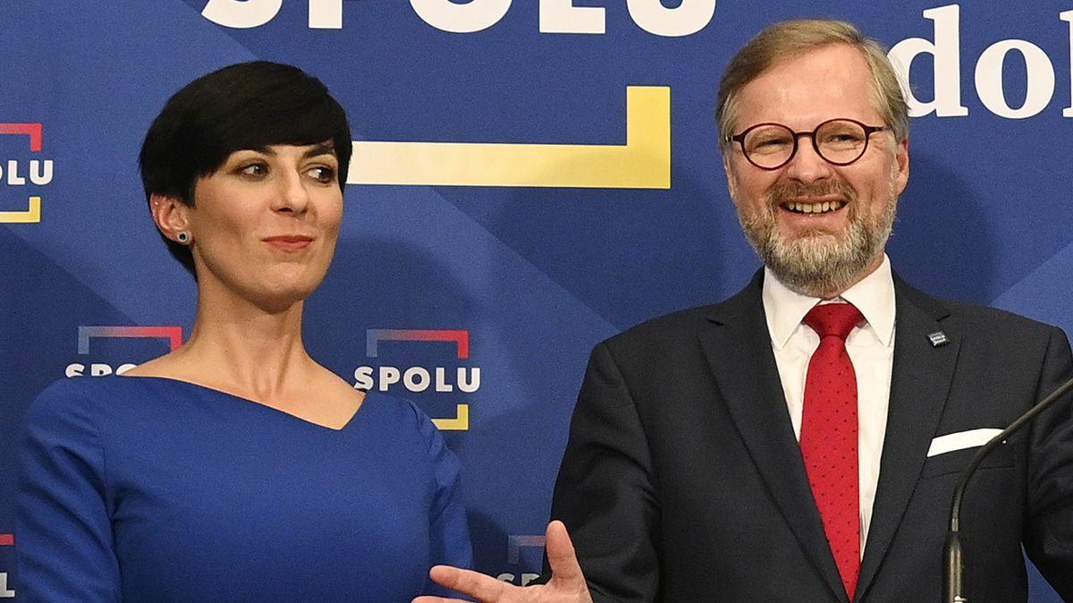 Markéta Pekarová Adamová a Petr Fiala