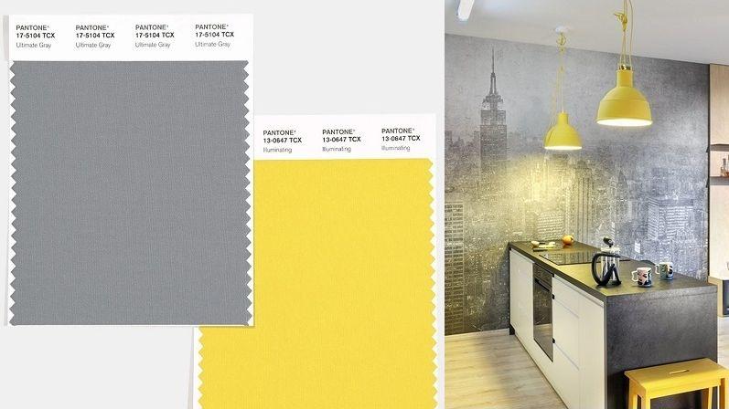 Barvami roku 2021 jsou světle šedá a oslňující žlutá