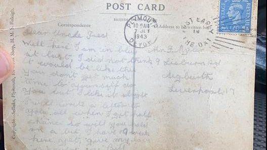Pohlednice z války byla doručena po 77 letech a 7 měsících