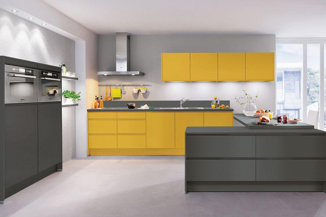 V kuchyni IP6810 můžete kombinovat např. kari žlutou a grafitově šedou.