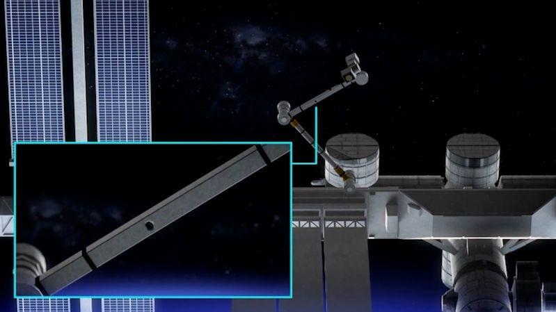 Vesmírné smetí prorazilo díru do robotické ruky na ISS. Nadále však funguje, hlásí NASA