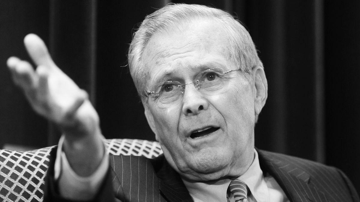 Zemřel bývalý americký ministr obrany Rumsfeld