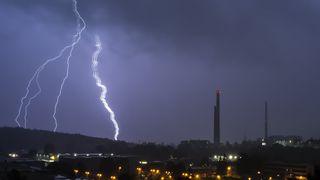 Na Vysočině se vytvořily silné bouřky