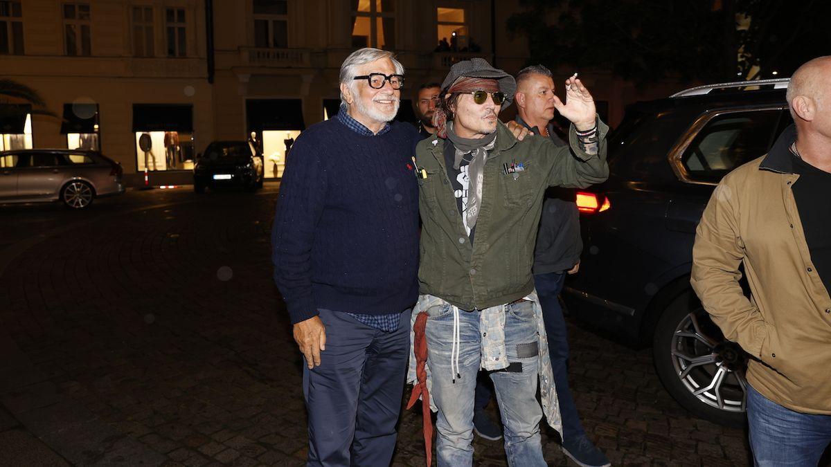 Johnny Depp dorazil na karlovarský filmový festival