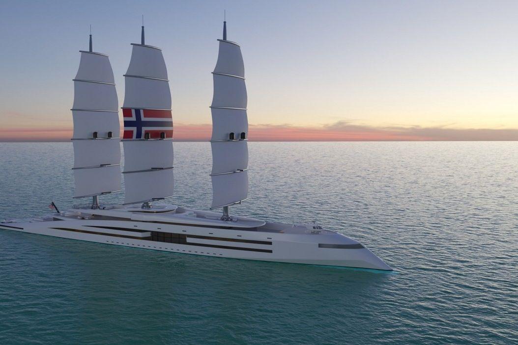 Takto by v budoucnu mohlo vypadat ekologicky přívětivé luxusní plavidlo.