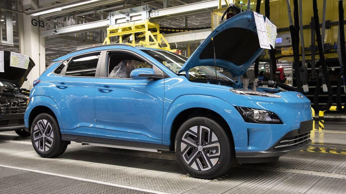 Výroba Hyundai Kona Electric v Nošovicích