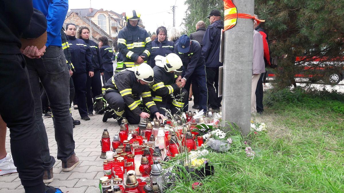 Koryčanští hasiči uctili na místě neštěstí památku svých zesnulých kolegů