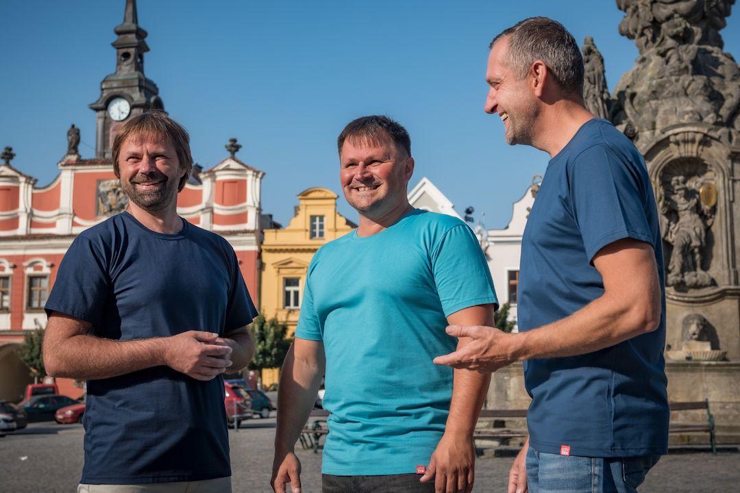 Zakladatelé Cityzenwear René Němeček, Martin Burkoň a Pavel Hrstka