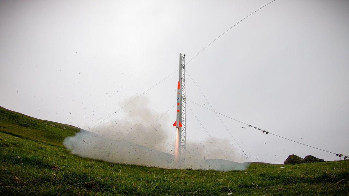 Malý test rakety Skylark Nano