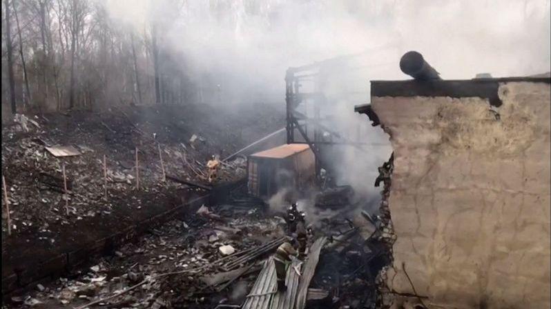 Požár v prachárně v Rusku: 16 mrtvých