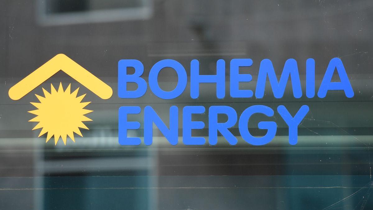 Firma Bohemia Energy, která 13. října 2021 oznámila ukončení činnosti, uzavřela své zákaznické centrum v Paláci Archa v Praze v ulici Na Poříčí. Na snímku je logo společnosti na uzavřené pobočce.
