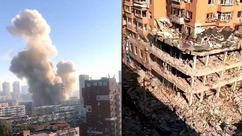 Kamery zachytily výbuch restaurace v Číně. Zemřeli nejméně tři lidé