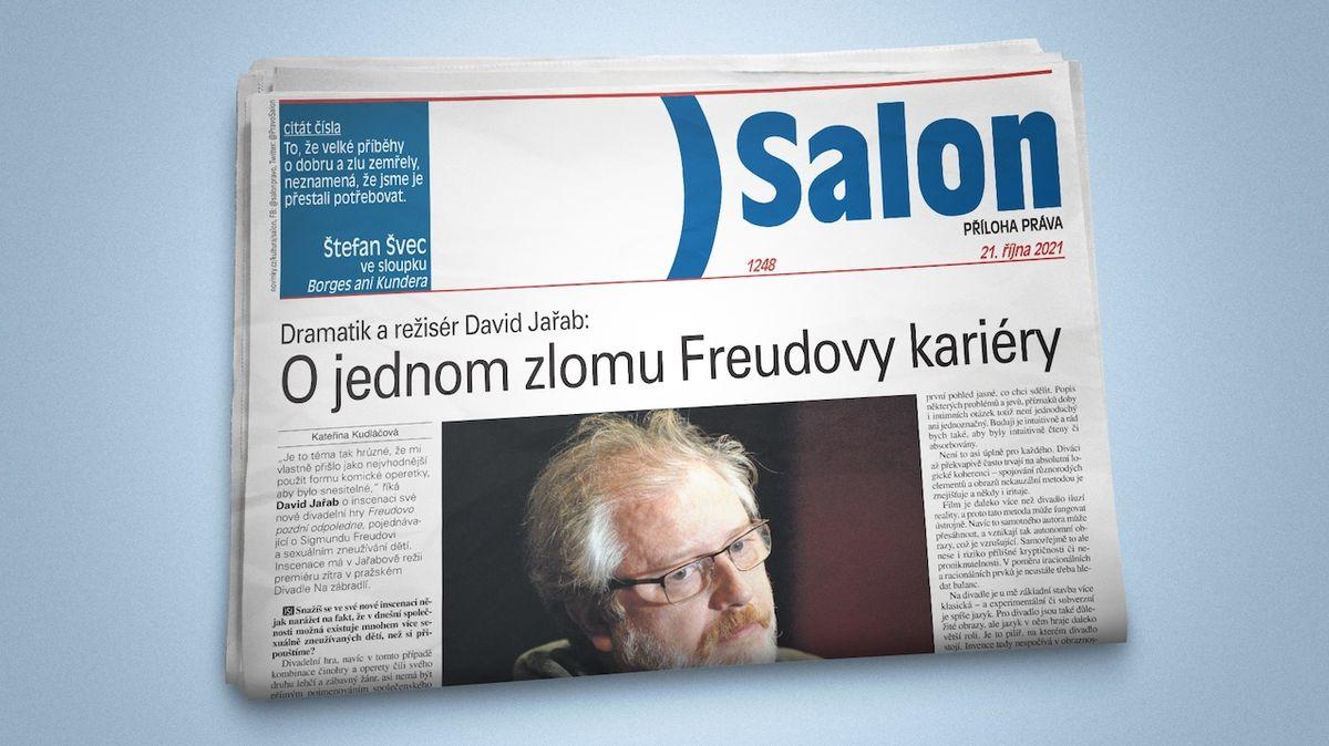 Vychází nový Salon: Dramatik David Jařab o Freudovi a román Jaroslava Rudiše
