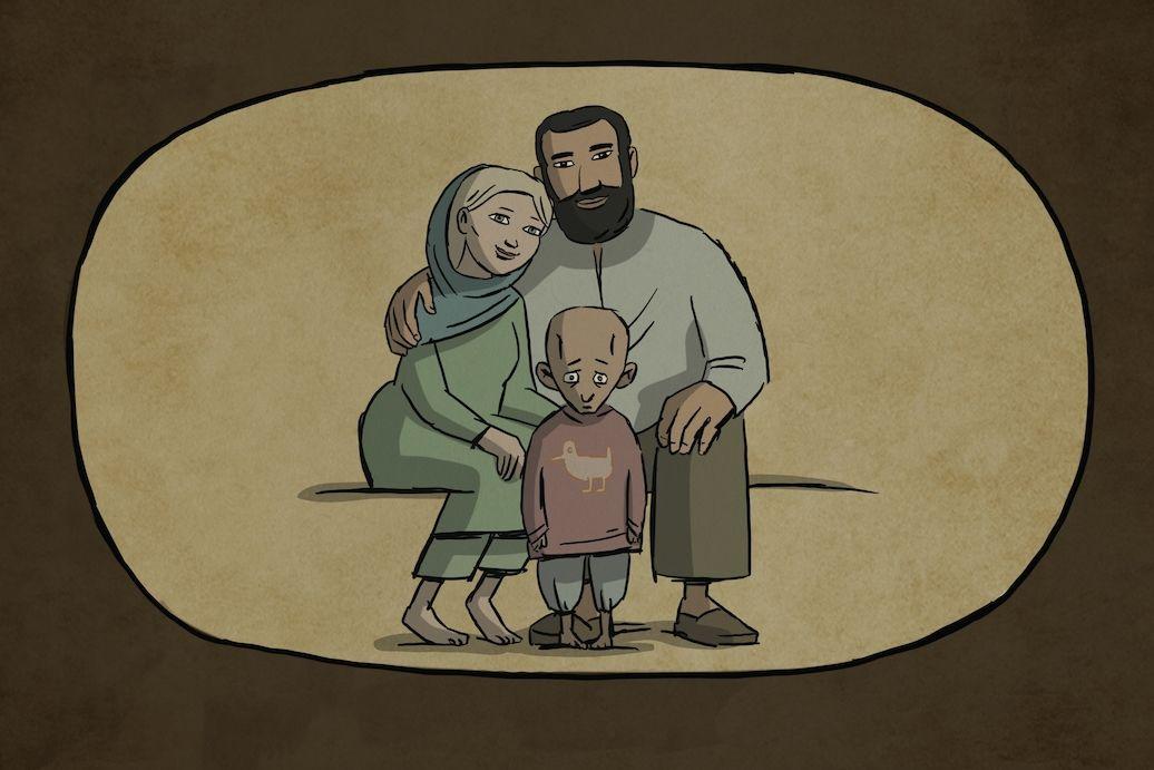 Rodinné foto vyjadřuje přání žít v klidu.
